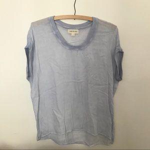 Sheer powder blue Cloth & Stone shirt Medium